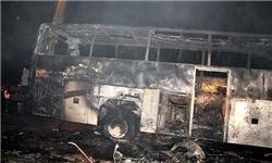 علت اول حادثه قم نقص فنی و ترکیدگی لاستیک و علت بعدی آتشسوزی بود