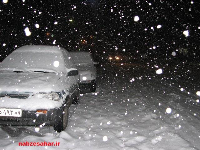 عکس شب برفی