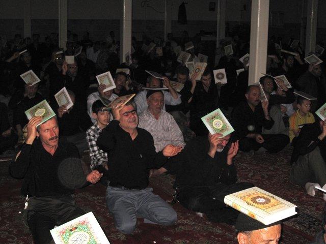 گزارش تصویری از شبهای قدر خرمدره/شب ۲۱رمضان