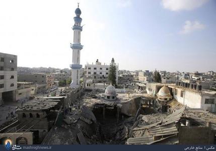 تصاویر/بمباران مساجدو منازل مسکونی در غزه