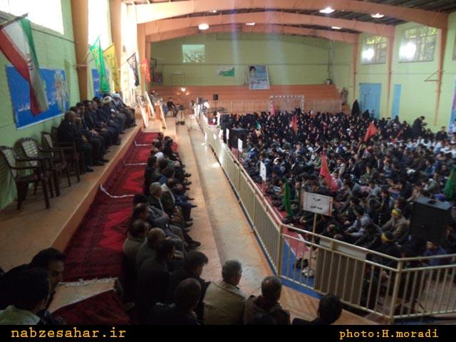 تصاویر/نمایش اقتدار و وحدت بسیج شهرستان خرمدره