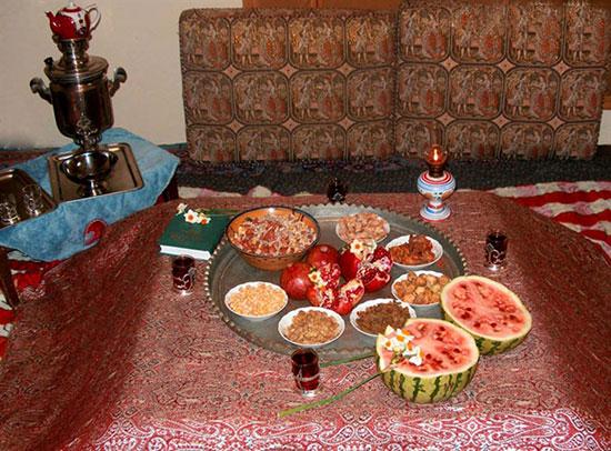 سنت های کهن مردم خرم دره در شب چله(یلدا)