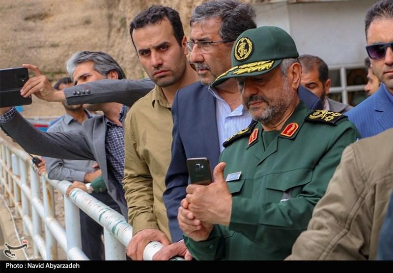 بازدید فرماندهکل سپاه از سد دز بهروایت تصویر