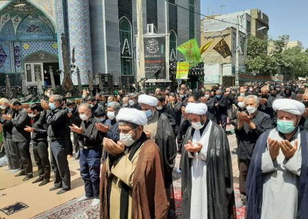 نماز ظهر عاشورا در خرمدره اقامه شد+ تصاویر